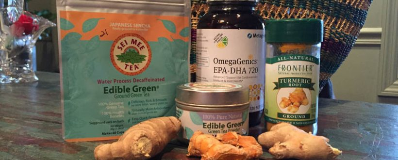 anti-inflammatory supplements, ginger, turmeric, green tea, fish oil, healing foods, functional medicine, food as medicine, self-healing